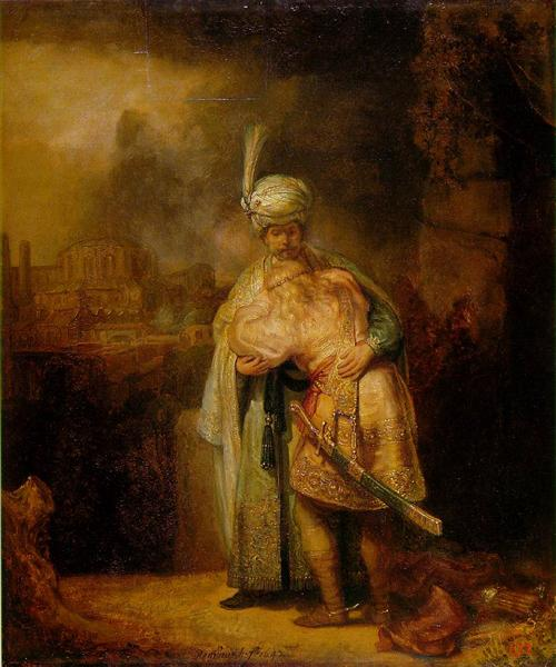 David and Jonathan, 1642 - Rembrandt