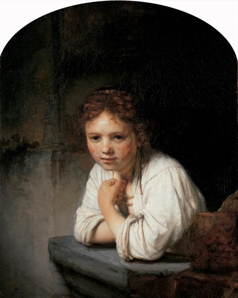 Girl in the Window, 1645 - Rembrandt
