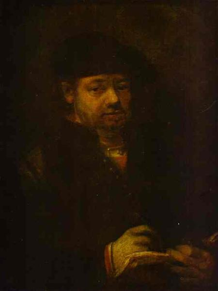 Self-portrait with a Sketch Book - Rembrandt
