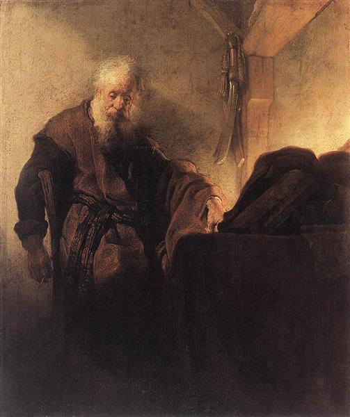 St. Paul at his Writing Desk, 1629 - 1630 - Rembrandt van Rijn