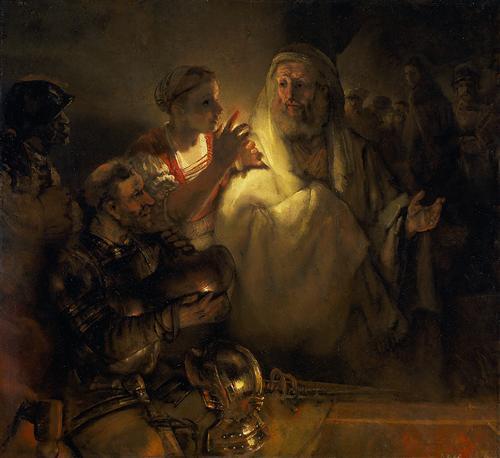ThedenialofPeter - Rembrandt