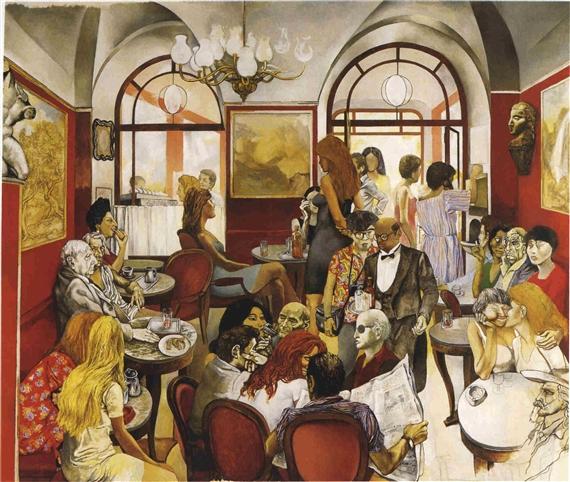 Caffe Greco, 1976 - Renato Guttuso