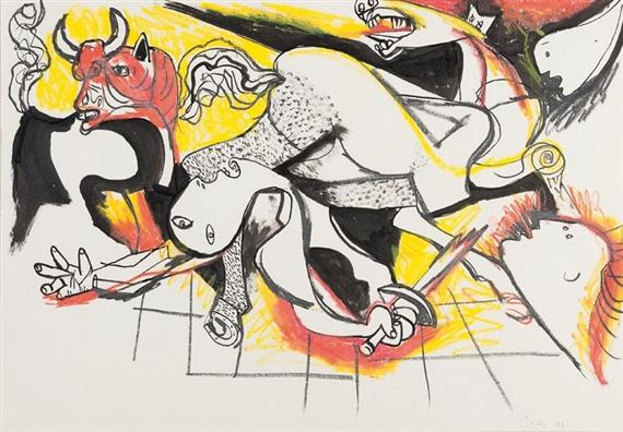 Da Guernica, 1973 - Renato Guttuso