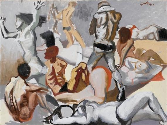 La spiaggia, 1954 - Renato Guttuso