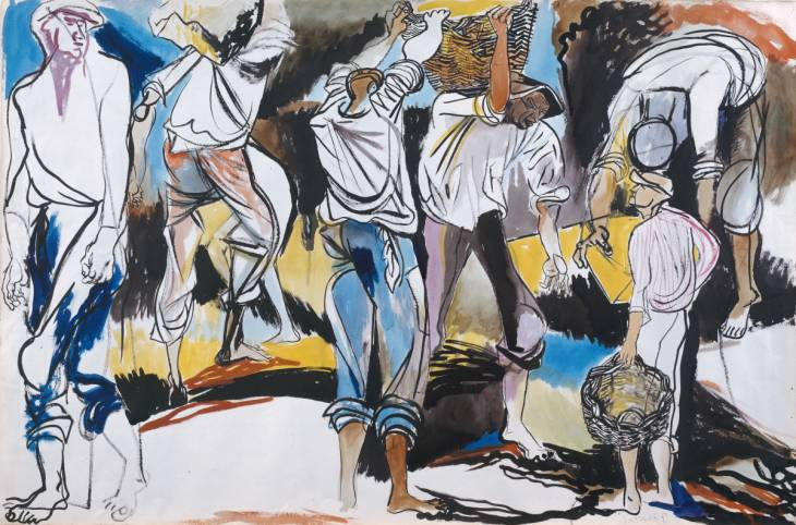 Sulphur Miners, 1949 - Renato Guttuso