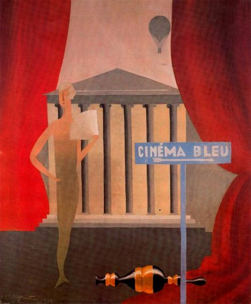 Blue cinema, 1925 - René Magritte
