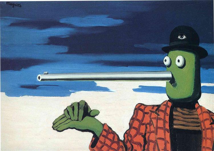 The ellipse, 1948 - Rene Magritte