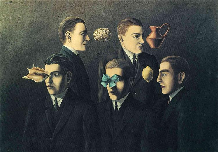 The familiar objects, 1928 - Рене Магритт