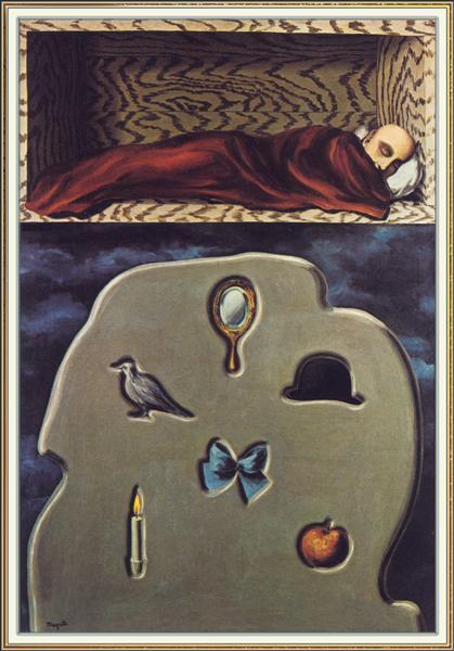 The reckless sleeper, 1927 - René Magritte