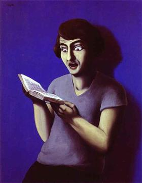 The submissive reader - Rene Magritte