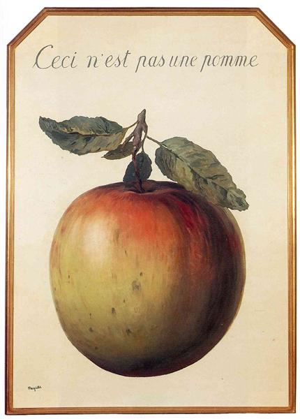 This is Not an Apple, 1964 - Rene Magritte