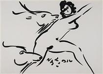 Nymph and Goats - Reuben Nakian