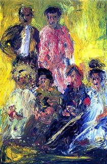 Group portrait with Schönberg - Richard Gerstl