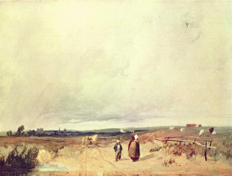 Scene in Normandy, c.1823 - Richard Parkes Bonington