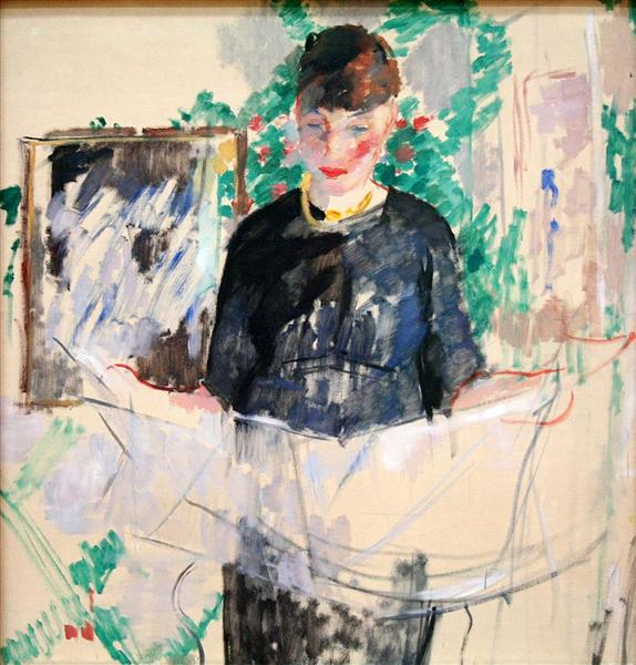 Woman in Black Reading a Newspaper, 1912 - Rik Wouters