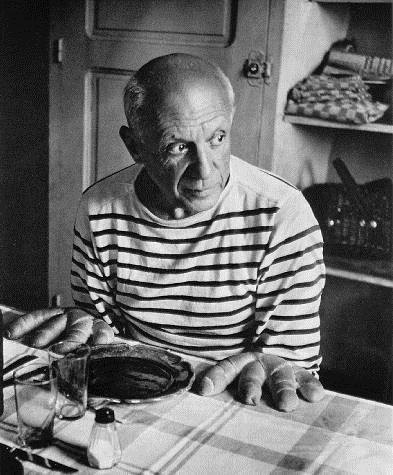 Picasso and the loaves, 1952 - Robert Doisneau