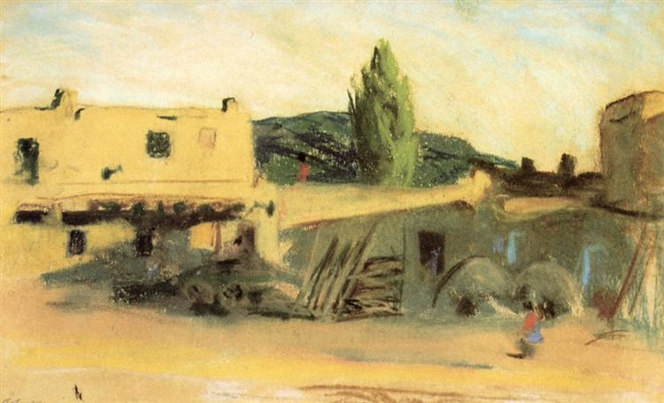 Adobe Buildings, Santa Fe, 1917 - Robert Henri