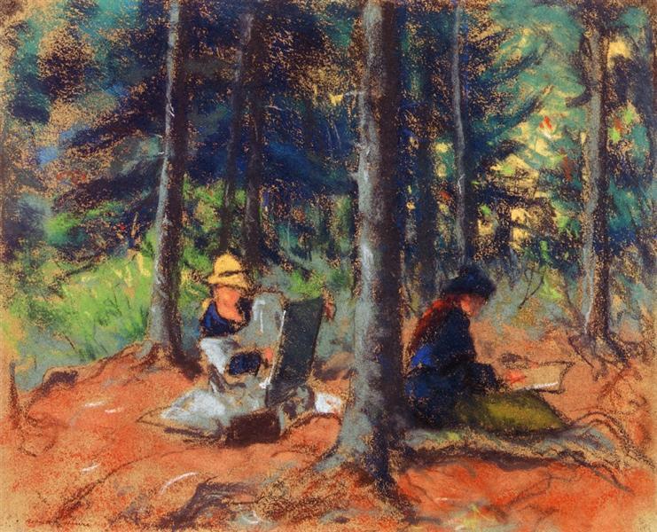 Artists in the Woods - Robert Henri