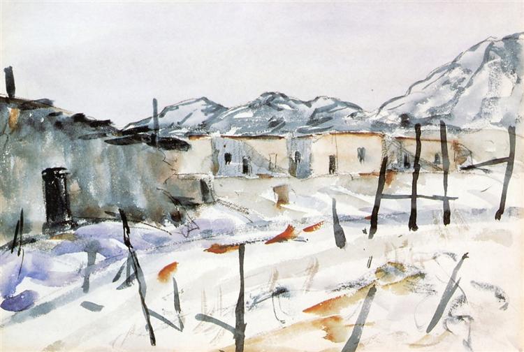Santa Fe Adobes, 1922 - Robert Henri
