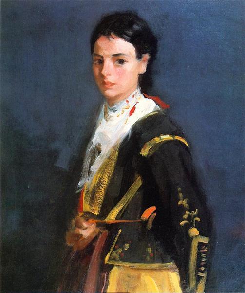 Segovia Girl, Half-Length, 1912 - Robert Henri