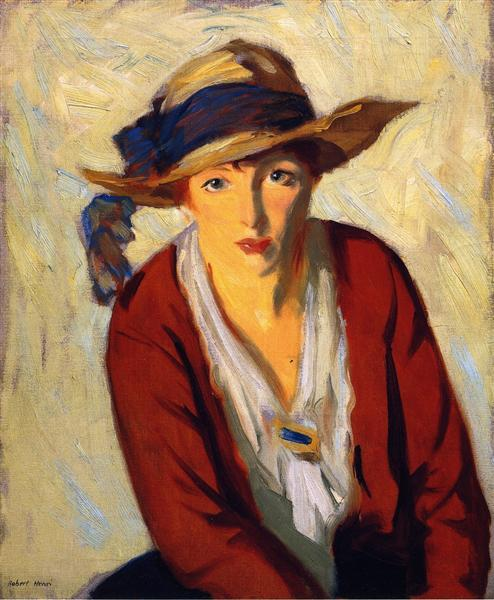 The Beach Hat, 1914 - Robert Henri