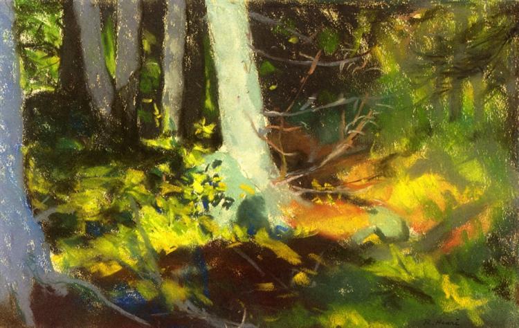Under the Trees - Monhegan, 1918 - Robert Henri
