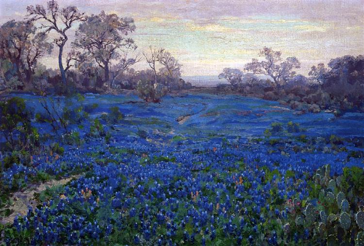 Bluebonnets at Twilight, near San Antonio, 1919 - 1920 - Роберт Джулиан Ондердонк