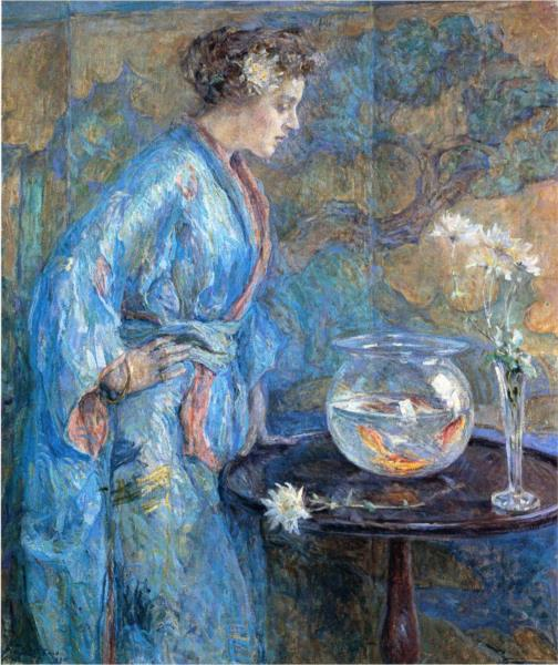 Girl in Blue Kimono, 1911 - Robert Lewis Reid