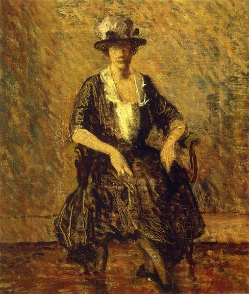 The Blue Gown, 1915 - Robert Spencer