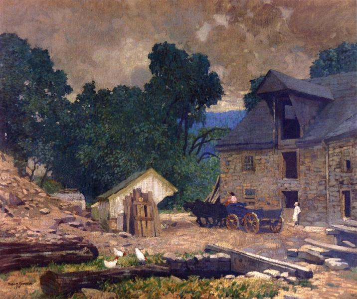 The Mill Yard, 1910 - Robert Spencer