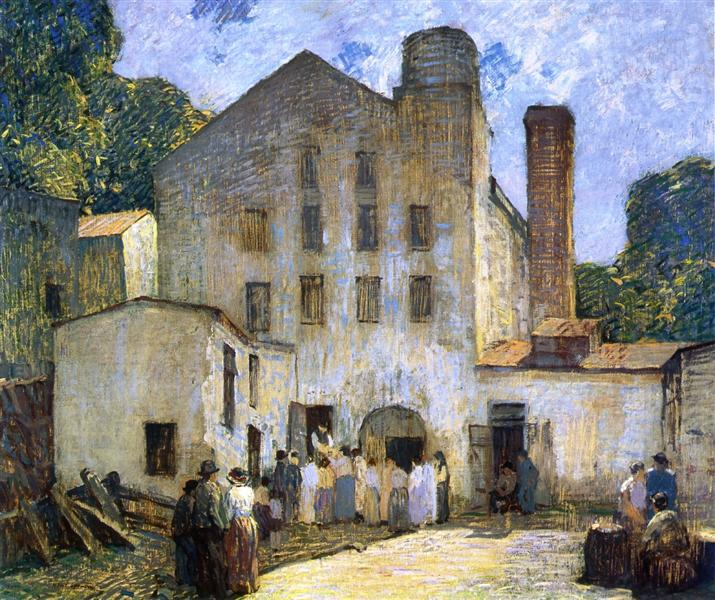 The Silk Mill, 1912 - Robert Spencer