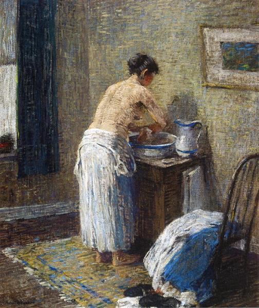 Woman Washing, 1917 - Robert Spencer