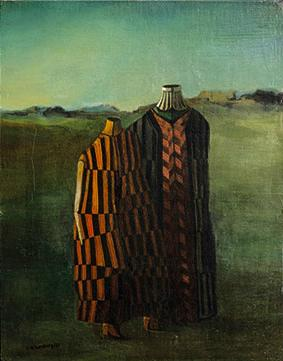 Figures on Landscape, 1953 - Roberto Aizenberg