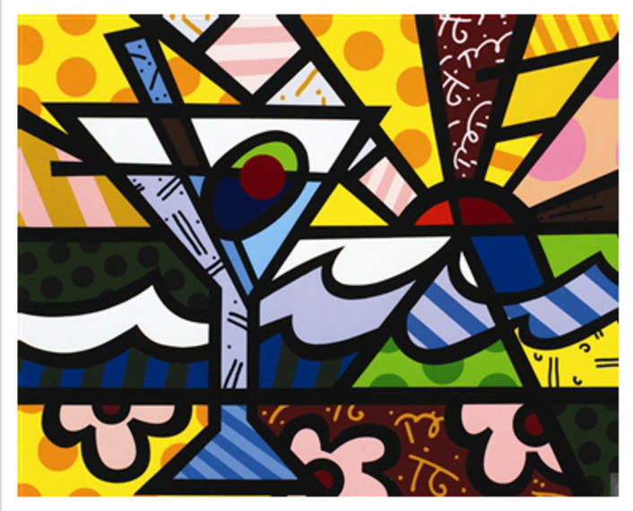 Martini Sunrise, 2005 - Romero Britto