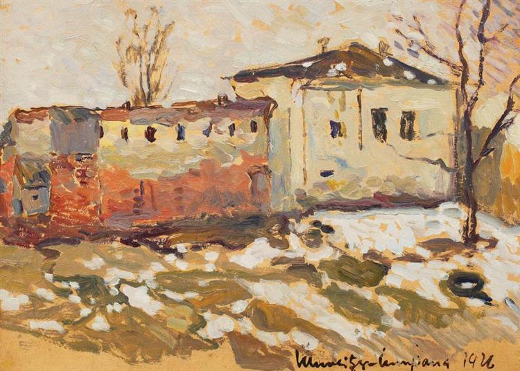 Late Winter in Gherla, 1926 - Rudolf Schweitzer-Cumpana