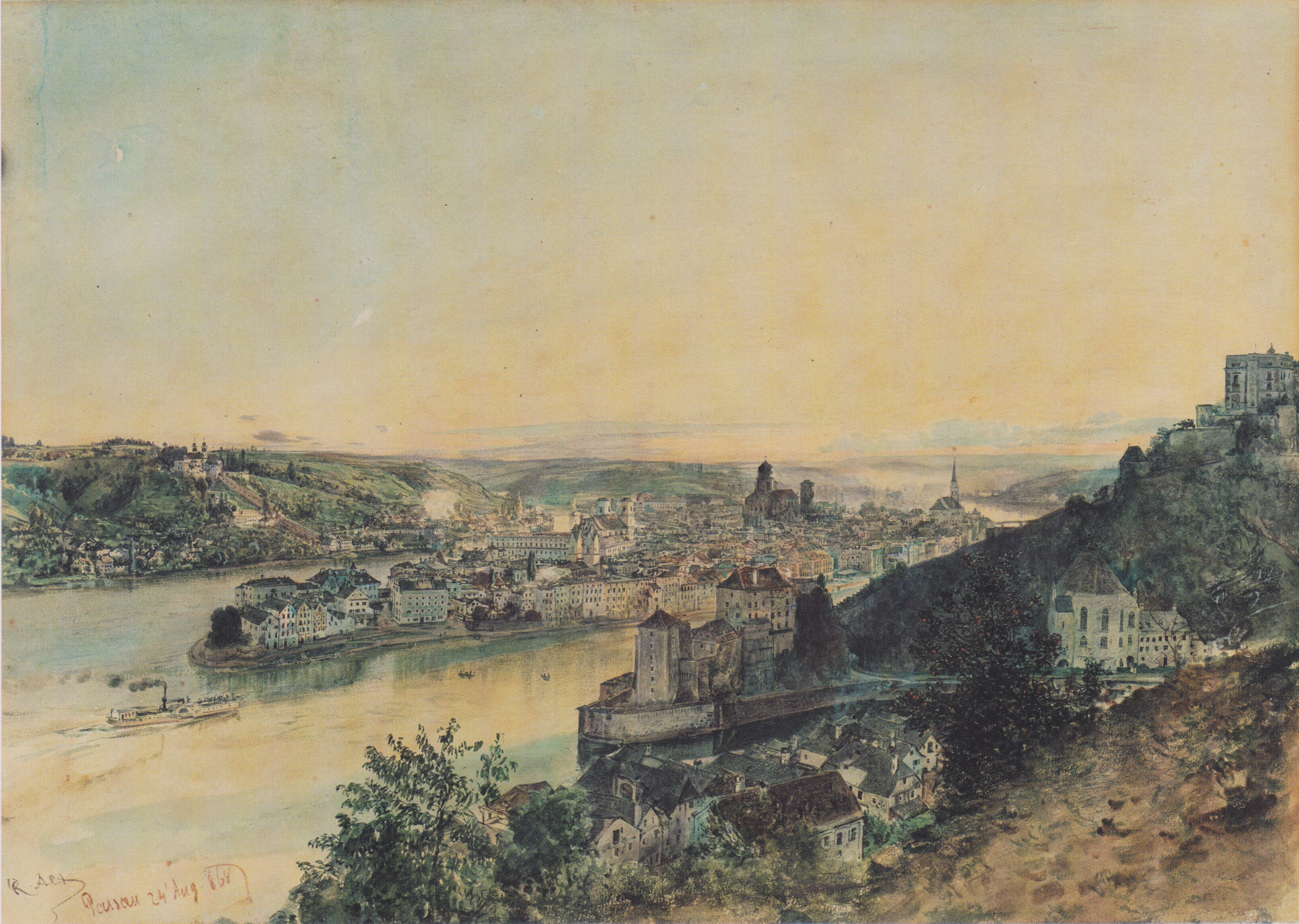View of Passau, 1864
