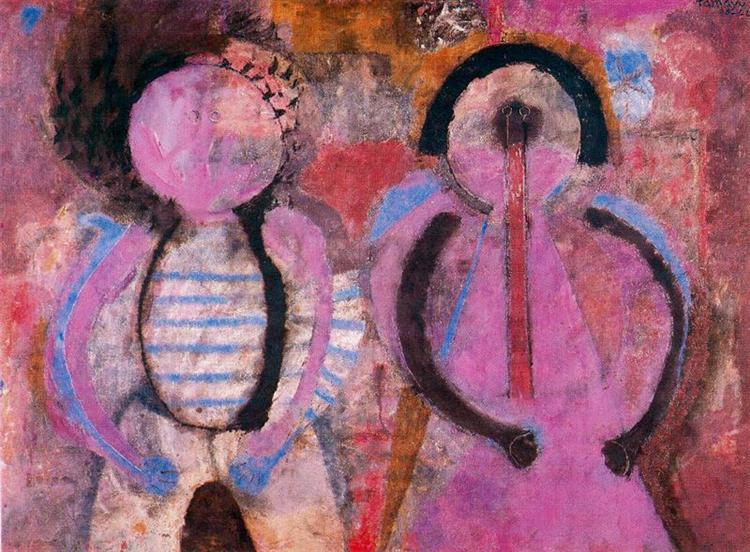 Retrato de niños (Pareja de niños), 1966 - Rufino Tamayo