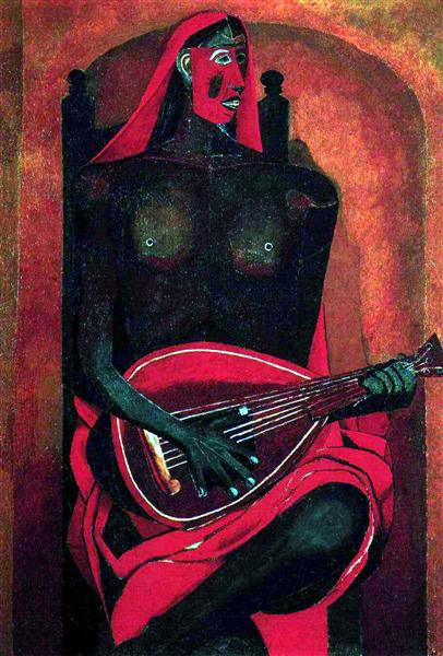 The Woman with Red Mask, 1940 - Rufino Tamayo