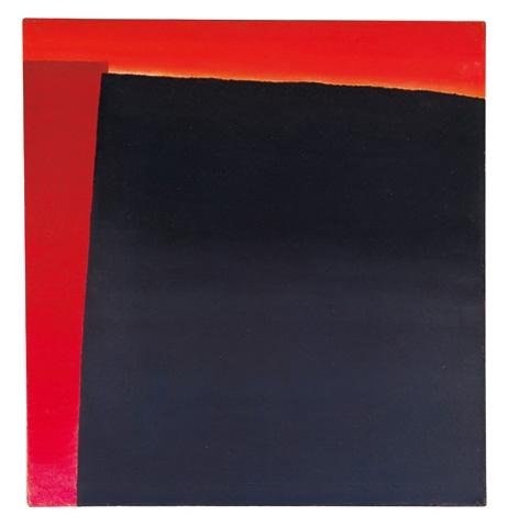 OE 250 (Schwarz vor zweimal Rot), 1957 - Rupprecht Geiger