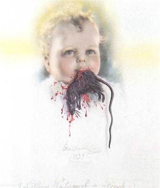 Bulgarian Child Eating a Rat, 1939 - Salvador Dali
