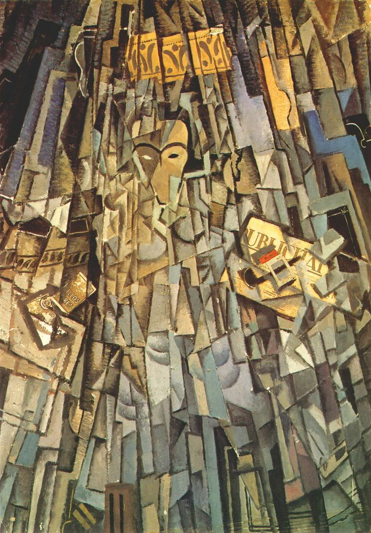 Cubist Self-portrait, 1926 - Salvador Dali - WikiArt.org