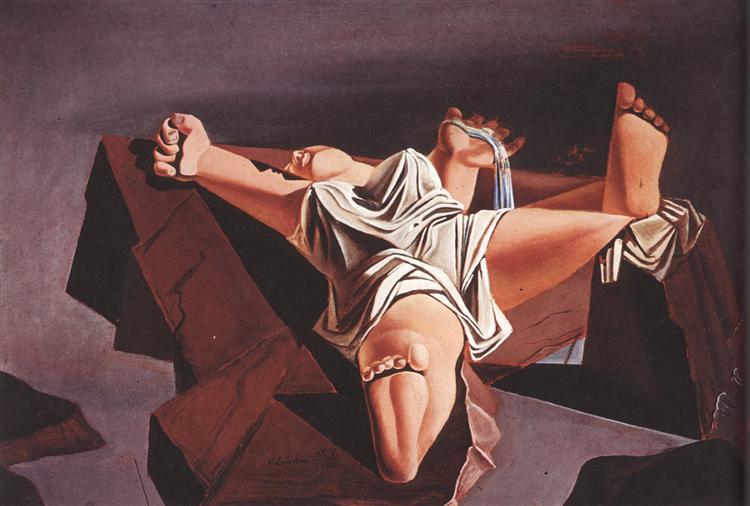 Figure on the Rocks, 1926 - Salvador Dali