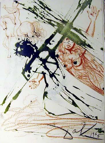 Jesus carrying the cross, 1964 - 1967 - Salvador Dali ...
