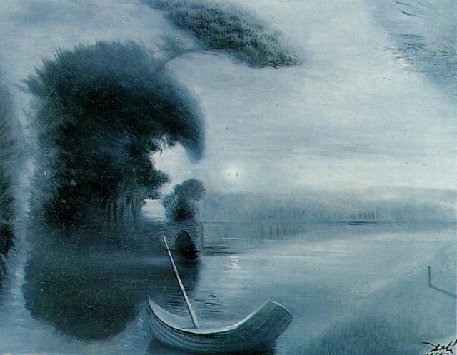 Metamorphosis of Hitler's Face into a Moonlit Landscape with Accompaniment, 1958 - Salvador Dali