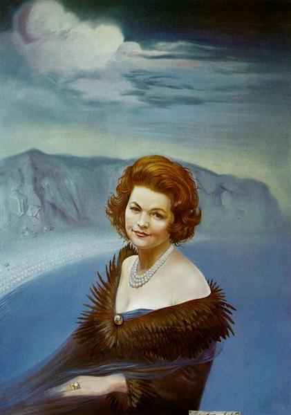 Portrait of Mrs. Ruth Daponte, 1965 - Salvador Dali