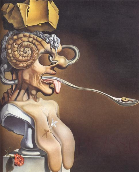 Portrait of Picasso, 1947 - Salvador Dali