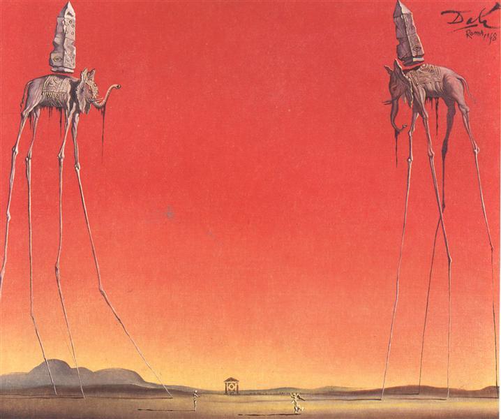 The Elephants (Large), 1948 - Salvador Dali