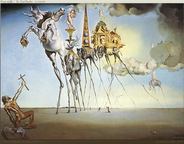 The Temptation of St. Anthony, 1946 - Salvador Dali