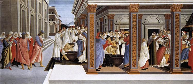 Baptism of St Zenobius and His Appointment as Bishop, 1500 - 1505 - Sandro Botticelli
