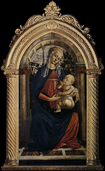 Madonna of the Rosegarden, 1469 - 1470 - Sandro Botticelli
